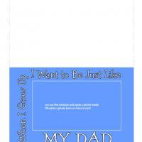 Want To Be Dad Frame Card
