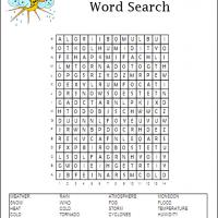 Printable Weather Word Search - Printable Word Search - Free Printable Games