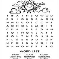 Sunny Weather Word Search