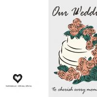Printable Wedding Cake Invitation - Printable Wedding Invitation Cards - Free Printable Invitations