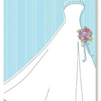 Wedding Gown Blank Bridal Shower Invitation