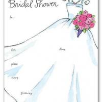 Printable Wedding Gown Bridal Shower Invitation - Printable Wedding Invitation Cards - Free Printable Invitations