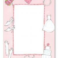 Wedding Things Blank Flat Card Invitation