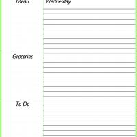 Printable Wednesday Daily Planner - Printable Daily Calendar - Free Printable Calendars
