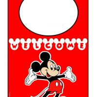 Printable Welcome Mickey Door Hanger - Printable Fun - Free Printable Activities