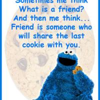 Printable What is a Friend Cookie Monster Quote - Printable Friendship Quotes - Free Printable Quotes