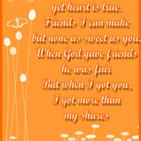 Printable When God Gave Friends - Printable Friendship Quotes - Free Printable Quotes
