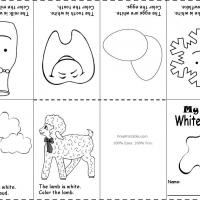 Printable White Color Recognition - Printable Preschool Worksheets - Free Printable Worksheets