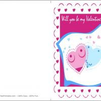Printable Will You Be My Valentine? - Printable Valentines - Free Printable Cards