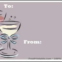 Printable Wine Glasses Gift Cards - Printable Gift Cards - Free Printable Cards