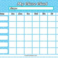 Printable Winter Chore Chart - Printable Chore Charts - Free Printable Activities