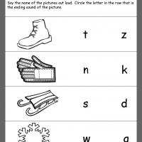 Printable Winter Ending Consonant Review - Printable Kindergarten Worksheets and Lessons - Free Printable Worksheets