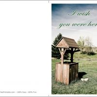 Wishing Well Greeting Card