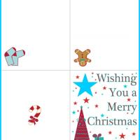 Printable Wishing You a Merry Christmas - Printable Christmas Cards - Free Printable Cards