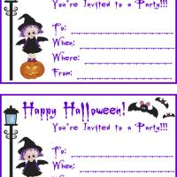 Printable Witchy Girl Halloween Party - Printable Party Invitation Cards - Free Printable Invitations
