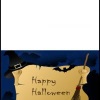 Printable Witchy Happy Halloween - Printable Greeting Cards - Free Printable Cards