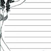 Woman Border Beach Notepad