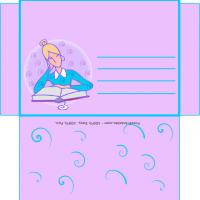 Printable Woman Reading Envelope - Printable Card Maker - Free Printable Cards