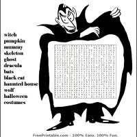 Printable Word Search with Dracula - Printable Word Search - Free Printable Games
