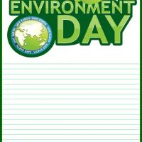 Printable World Environment Day Stationary - Printable Stationary - Free Printable Activities