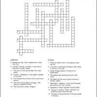 Printable World Famous Sites 1 - Printable Crosswords - Free Printable Games