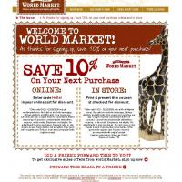 World Market 10% Off on Next Purchase
