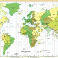Printable World Time Zone Map - Printable Maps - Misc Printables