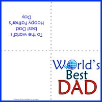 Printable World's Best Dad - Printable Fathers Day Cards - Free Printable Cards