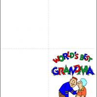 Printable World's Best Grandma - Printable Greeting Cards - Free Printable Cards