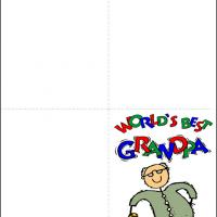 Printable World's Best Grandpa - Printable Greeting Cards - Free Printable Cards