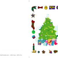 Printable Xmas Tree - Printable Christmas Cards - Free Printable Cards