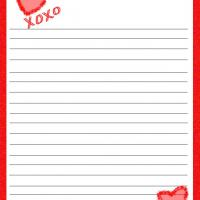 Printable XOXO Hearts - Printable Stationary - Free Printable Activities