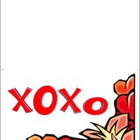 Printable XOXO Love - Printable Valentines - Free Printable Cards