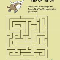Printable Year Of The Ox Maze - Printable Mazes - Free Printable Games