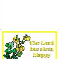 Printable Yellow Bells Easter Card - Printable Easter Cards - Free Printable Cards