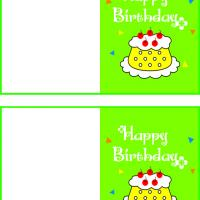 Printable Yellow Cake with Cherries on Top - Printable Birthday Cards - Free Printable Cards