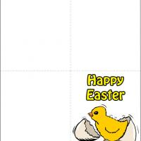 Printable Yellow Chick Out Of The Shell - Printable Easter Cards - Free Printable Cards
