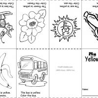 Printable Yellow Color Recognition - Printable Preschool Worksheets - Free Printable Worksheets