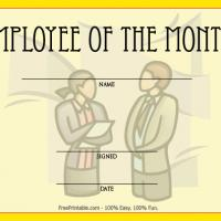 Printable Yellow Employee Of The Month Award - Printable Awards - Misc Printables