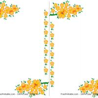 Printable Yellow Flower Border Note Pad - Printable Stationary - Free Printable Activities