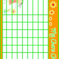 Yellow Flower Chore Chart