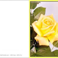 Yellow Flower Valentine's Card