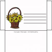 Printable Yellow Flowers Envelope - Printable Card Maker - Free Printable Cards