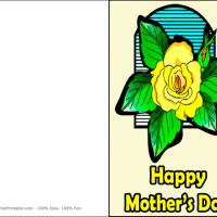 Printable Yellow Rose For Mom - Printable Mothers Day Cards - Free Printable Cards