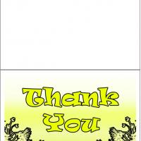 Printable Yellow Thank You - Printable Thank You Cards - Free Printable Cards
