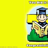 Printable Yellow Themed Congratulations Card - Printable Graduation Cards - Free Printable Cards
