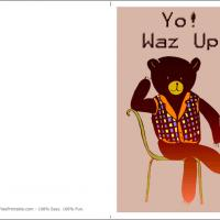 Printable Yo Waz Up - Printable Greeting Cards - Free Printable Cards