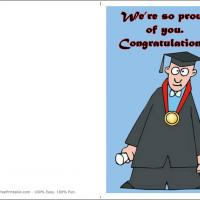 Printable You Did It I'm So Proud - Printable Graduation Cards - Free Printable Cards