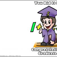 Printable You Did It Math Wiz - Printable Graduation Cards - Free Printable Cards