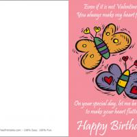 Printable You Make My Heart Flutter - Printable Birthday Cards - Free Printable Cards